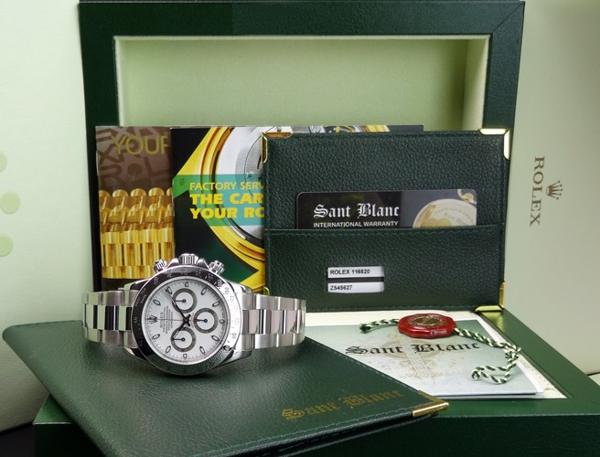 ROLEX - DAYTONA Stainless Steel White Index Dial - 116520 - SANT BLANC