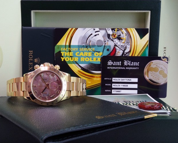 ROLEX - 18kt Gold DAYTONA Tahitian Mother Of Pearl Arabic 116528 SANT BLANC