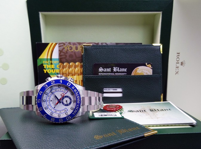 ROLEX - 44mm Stainless Steel YachtMaster II - 116680 - SANT BLANC