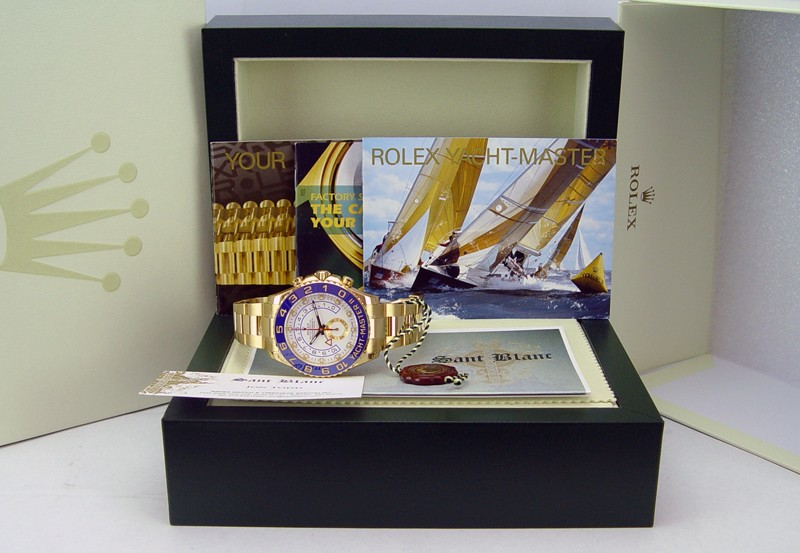 ROLEX - 44mm YachtMaster II 18kt Yellow Gold - 116688