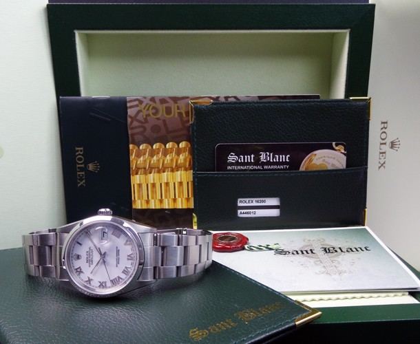 ROLEX - Men's DateJust Stainless Steel White Roman 16200 - SANT BLANC