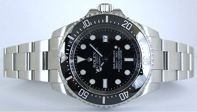 ROLEX - 2013 44mm Stainless Steel Deepsea Sea-Dweller Ceramic Black Dial - 116660
