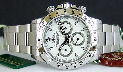 ROLEX - Mens Stainless DAYTONA White Index - 116520 SANT BLANC