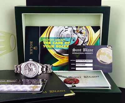 ROLEX - Ladies 18kt White Gold MasterPiece MOP Diamond Dial - 80299 SANT BLANC