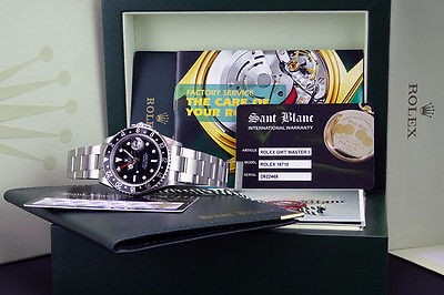 ROLEX - GMT-Master II 40mm Stainless Steel Black Bezel - 16710 SANT BLANC