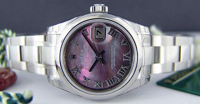 ROLEX - Lady Stainless Mother of Pearl DateJust 179160