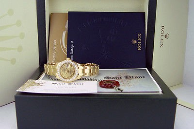 ROLEX  - 29mm 18kt Gold PearlMaster Masterpiece Bold Roman Dial 80298