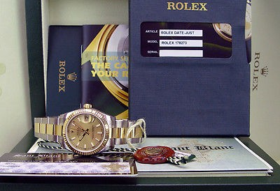 ROLEX - 2013 - 31mm 18kt Gold & Stainless Steel Midsize DateJust Champagne 178273