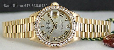 ROLEX - Ladies Mother of Pearl Dial DIAMOND President - 79138