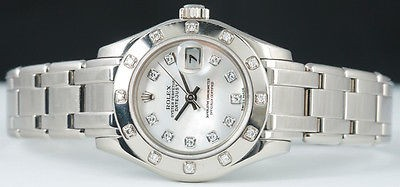 ROLEX - White Gold Ladies DIAMOND PearlMaster - 80319