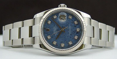 Men's SodaLite Diamond SS & WG Rolex DateJust 116234 SANT BLANC
