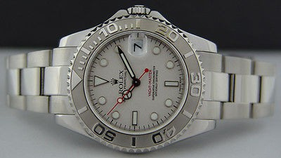 e772f455c1c ROLEX - Mid-Size 35mm PLATINUM   Stainless Steel Yacht-Master Platinum Dial  -