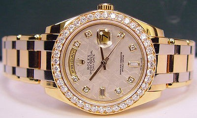 ROLEX - Mens Day-Date Tridor Masterpiece Meteorite Diamond Dial 18948