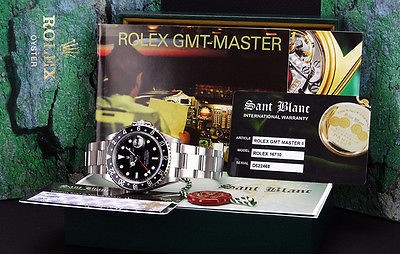 "ROLEX - Stainless Steel 40mm GMT-Master II Black Index ""SEL"" 16710 SANT BLANC"