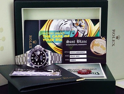 ROLEX - Stainless Steel Submariner Black Index Dial - 16610 SANT BLANC