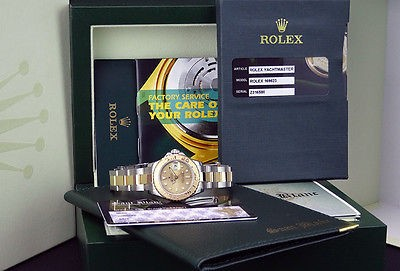 ROLEX Ladies 18kt Gold & Stainless Steel Yacht-Master Champagne 169623