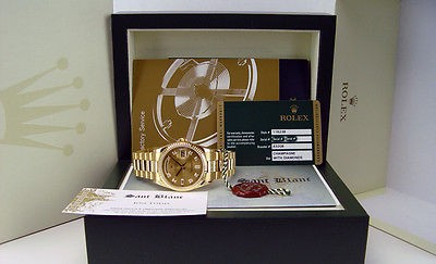 ROLEX 36mm Mens Day-Date President 18kt Gold Champagne DIAMOND 118238 SANT BLANC