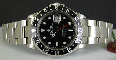"ROLEX - Stainless Steel 40mm GMT-Master II ""SEL"" Black Index 16710 SANT BLANC"