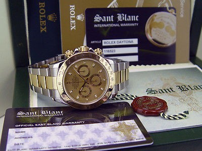 ROLEX - 18kt Gold & Stainless DAYTONA Champagne Dial  - 116523 SANT BLANC