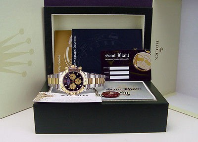 ROLEX - 40mm 18kt GOLD & Stainless Daytona Black Paul Newman 116523 SANT BLANC