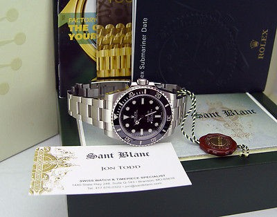 ROLEX - 40mm Stainless Steel SUBMARINER Black Index Dial - 114060 SANT BLANC