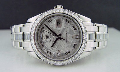 ROLEX - Mens 39mm Platinum Masterpiece Meteorite Diamond Dial - 18956