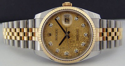 ROLEX - Men's Gold & SS DateJust - Gold Jubilee Diamond Dial - 116233 SANT BLANC