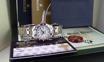 ROLEX - 18kt White Gold MASTERPIECE White Diamond PEARLMASTER - 80319