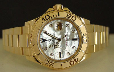 ROLEX - Men's 40mm 18kt Gold DIAMOND Pearl Yacht-Master - 16628