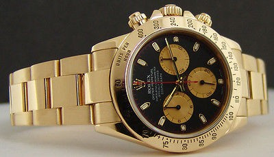 ROLEX - 18kt Gold 40mm Daytona Black PAUL NEWMAN Dial - 116528 SANT BLANC