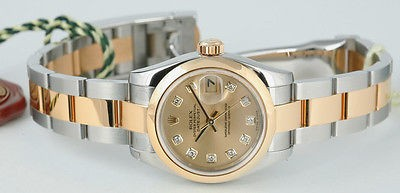 ROLEX - Ladies 18kt Gold & SS Diamond DateJust - 179163 SANT BLANC