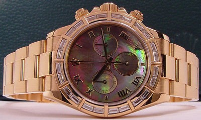 ROLEX - 18kt Gold Men's DIAMOND Daytona - Tahitian Mother of Pearl Roman - 116568