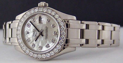 ROLEX - Ladies MasterPiece White Gold Mother Of Pearl Diamond - 80299 SANT BLANC