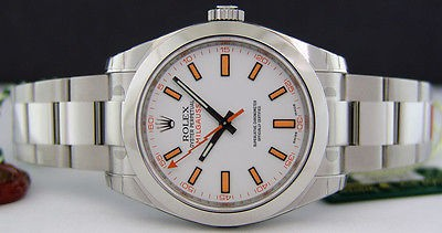 ROLEX - Stainless Steel 40mm MILGAUSS White Index Dial - 116400