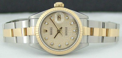 ROLEX - Ladies Gold & SS DateJust Champagne Jubilee Diamond - 79173 SANT BLANC