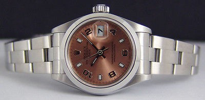 ROLEX - Ladies 26mm Stainless Steel - DateJust - Rose Dial - 79160 SANT BLANC