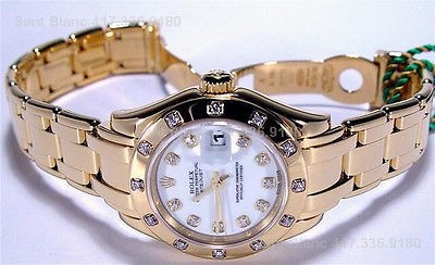 ROLEX - 18kt Gold MASTERPIECE Ladies White DIAMOND - SANT BLANC