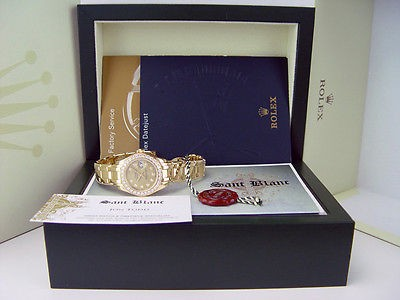 ROLEX - 18kt Gold PearlMaster Champagne Diamond MASTERPIECE - 80298