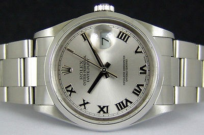 ROLEX - Men's 36mm Stainless Steel DATEJUST with a Silver Roman Dial, Model 16200