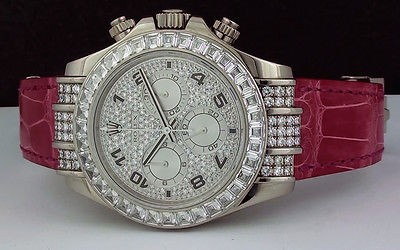 ROLEX - 18kt White Gold DIAMOND Daytona TBR Pave Arabic Dial - 116599