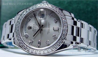 ROLEX - Men's Platinum DIAMOND MasterPiece Model 18946