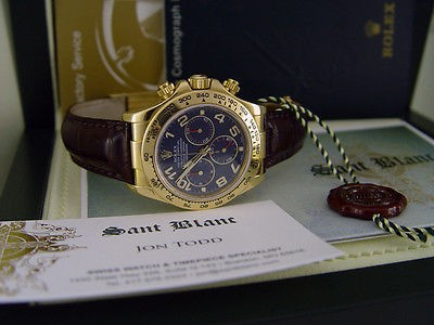 ROLEX - 40mm 18kt Yellow Gold Daytona Blue Arabic Dial- 116518 - SANT BLANC