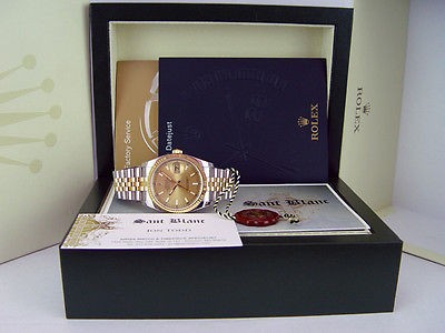 ROLEX - Mens DateJust 36mm 18kt Gold & SS Champagne 116233 - SANT BLANC