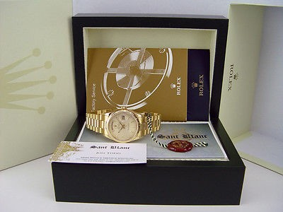 ROLEX 18kt Gold DayDate President Champagne Tapestry Index 118238 SANT BLANC