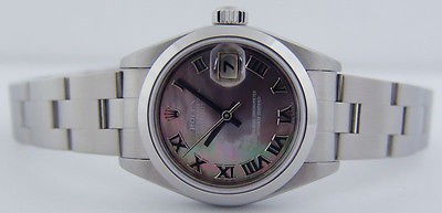 ROLEX - Ladies Stainless Datejust Tahitian Mother of Pearl - 79160 - SANT BLANC