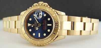 ROLEX Ladies 18kt Gold YachtMaster Ladies Blue 169628 SANT BLANC