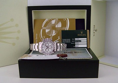ROLEX - Pristine 40mm Stainless Steel DAYTONA White Index - 116520 SANT BLANC