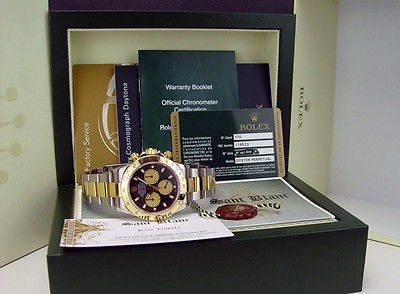 ROLEX - 18kt Gold & Stainless Daytona Black Paul Newman 40mm 116523 SANT BLANC