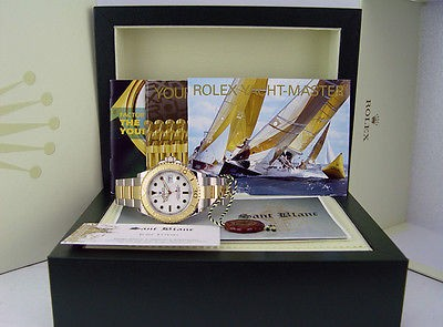 ROLEX 18kt Gold & SS 40mm YachtMaster White Dial 16623 SANT BLANC