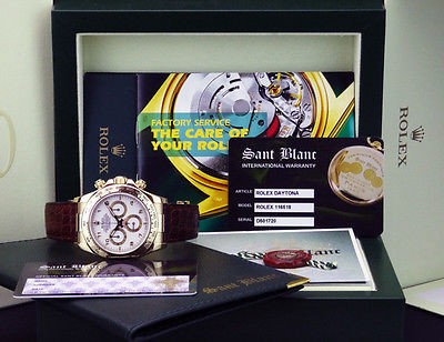 ROLEX - 18kt Gold Daytona White Arabic Dial 40mm Model 116518 - SANT BLANC